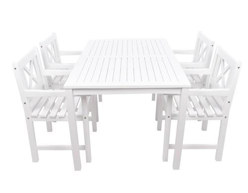 havemøbelsæt i hvidt